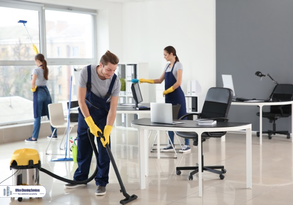 Daily office cleaning along with floor cleaning